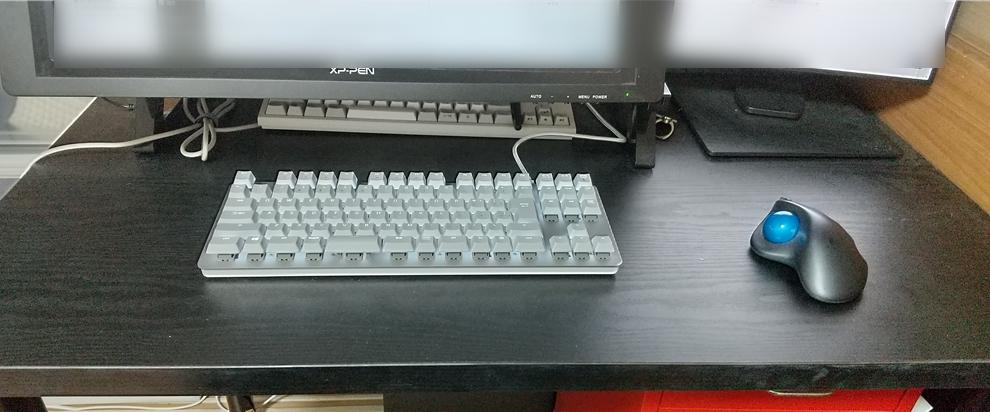 テンキーレスキーボードの場合はスペースを節約できる!